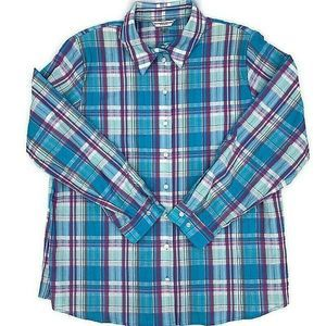 Allison Daley Womens Plaid Shirt